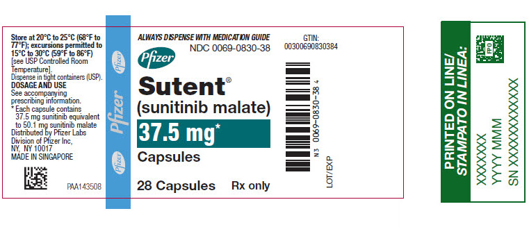 PRINCIPAL DISPLAY PANEL - 37.5 mg Capsule Bottle Label
